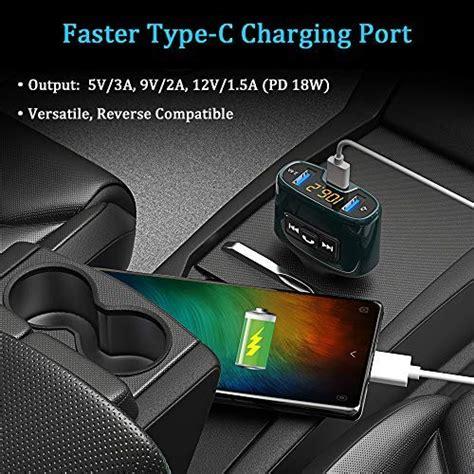 bovon transmetteur fm bluetooth 201 metteur fm kit de voiture sans fil 18w type c port de charge