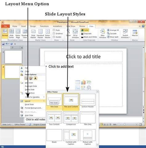 microsoft powerpoint layout text effects new add new slides in powerpoint 2010
