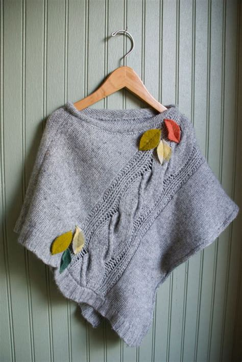 how to upcycle sweaters recycled sweater poncho by barefootsoul sewing ideas