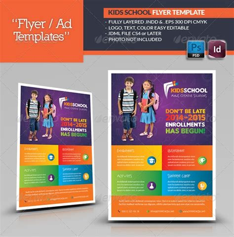School Brochure Template Free by School Flyer Templates Free I With School Brochure