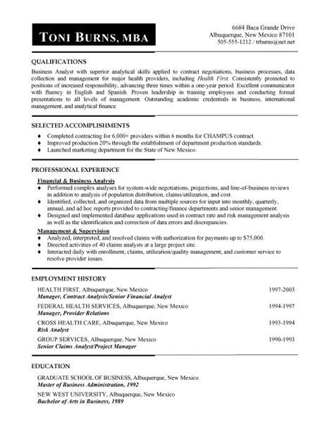 it functional analyst resume 28 images resume sle professional resume sle business analyst