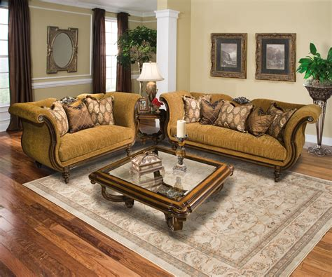 Formal Living Room Sofa by Classic Chenille Upholstery Formal Living Room Sofa