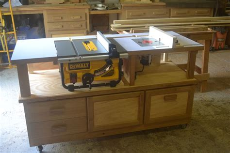 combination saw bench how to make a router and table saw combination table