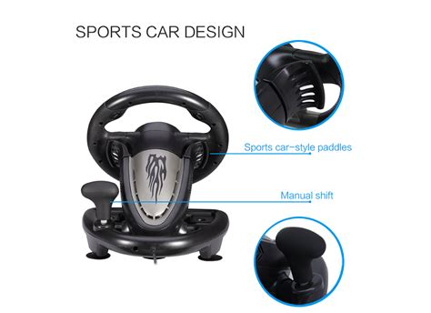 Pxn V3ii Vibration Motor Racing Steering Wheel With Pedal Pc Ps pxn v3ii usb wired racing wheel with dual motor