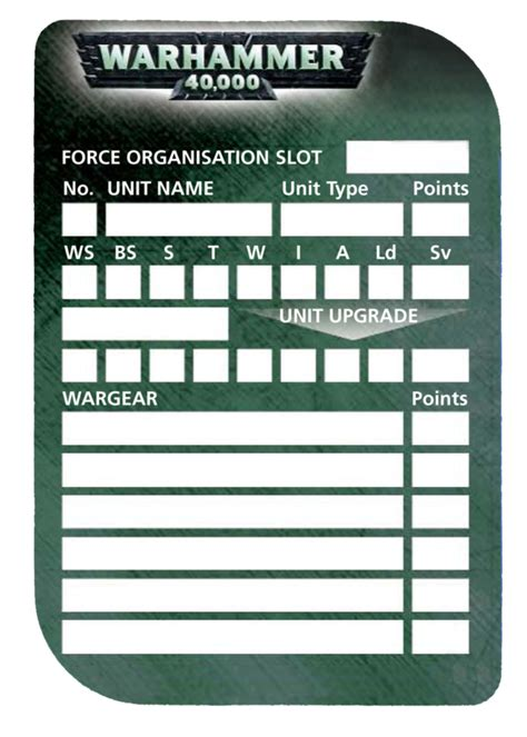 40k army list template 40k roster template by olovni on deviantart