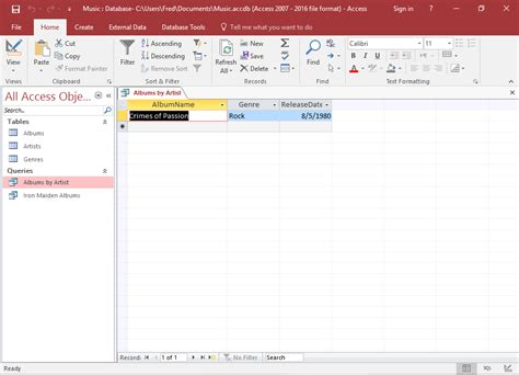 a quick tutorial on queries in microsoft access 2007 access 2016 create a query with user input