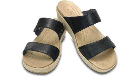 crocs womens a leigh 2 mini wedge sandal ebay