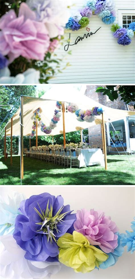 How To Make Decorations Out Of Tissue Paper - 23 best images about diy pompoms tissue paper on