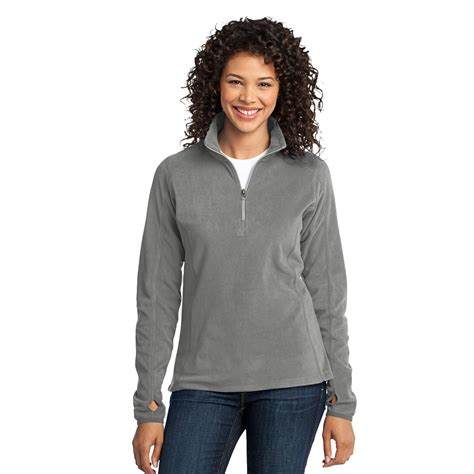 Big Size Jumbo Pearl Grey Shirt 6002 port authority l224 microfleece 1 2 zip pullover pearl grey fullsource