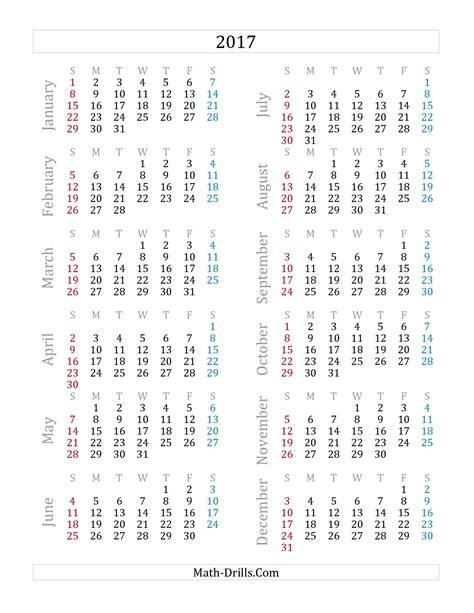 Calendrier De 2003 2017 Yearly Calendar A