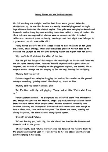 Harry Potter Analysis Essay by Harry Potter Comprehension By Sazo123 Teaching Resources Tes