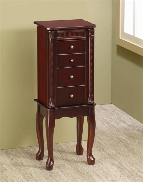 jewelry armoire wood brown wood jewelry armoire steal a sofa furniture outlet