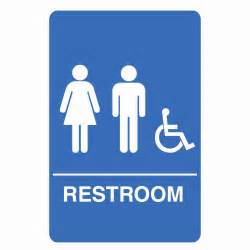 Bathroom Signs Palmer Fixture Is1006 1 B Ada Compliant Unisex Accessible