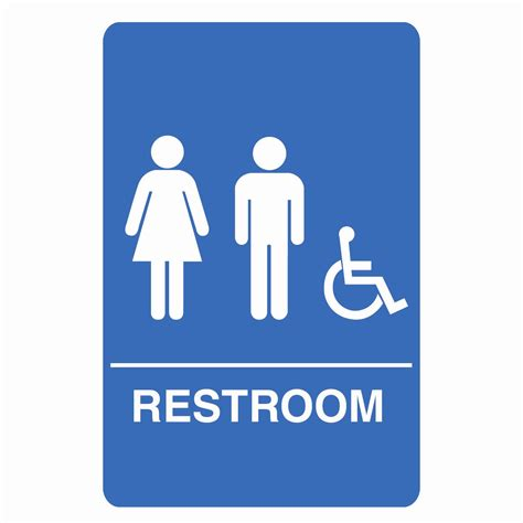Bathroom Signs by Palmer Fixture Is1006 1 B Ada Compliant Unisex Accessible