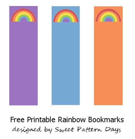 printable rainbow bookmarks 581 best images about rainbow theme printables on