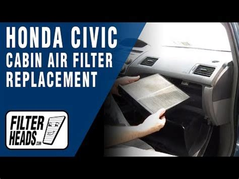2007 Honda Civic Cabin Air Filter by 2007 Honda Civic Air Filter Replacement How To Save