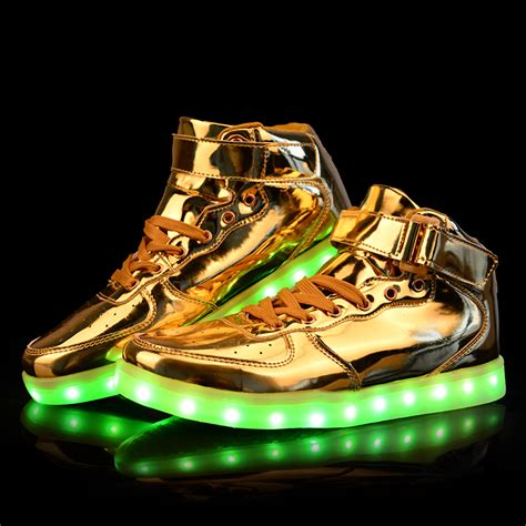 gold led light shoes online buy wholesale gold sneakers shoes from china gold