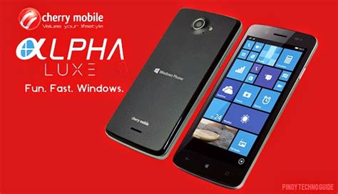 mobile alpha cherry mobile alpha luxe windows phone with 5 inch display