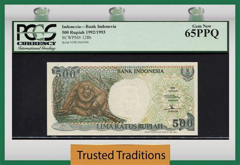 500 Rupiah Orang Utan 1992 Murah tt pk 128b 1992 1993 indonesia 500 rupiah quot orangutan quot pcgs