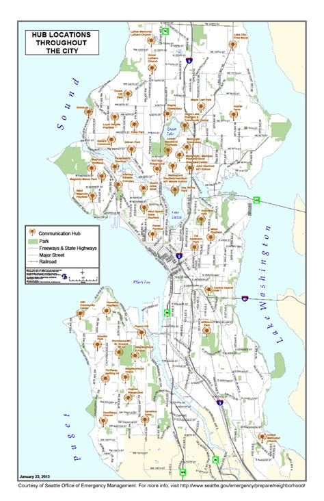 seattle map pdf large map of the hub locations