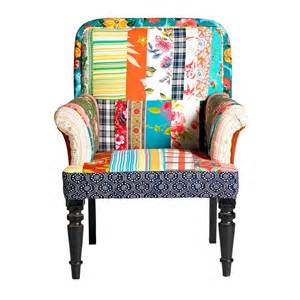 Vintage Style Armchair Vintage Style Patchwork Armchair By Nordal By Bell Amp Blue