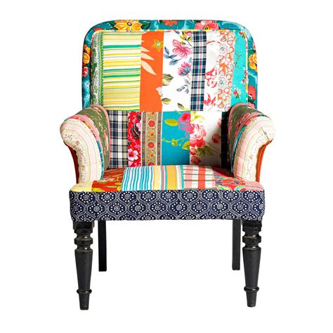 Patchwork Armchairs by Vintage Style Patchwork Armchair By Nordal By Bell Blue