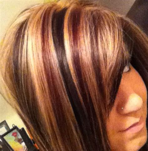 auburn hair with blonde highlights for mature women blonde red dark brown hair hair pinterest dark