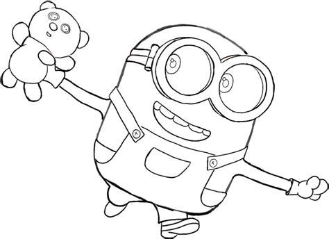 Sketsa Gambar Kartun Mudah Arsip Tembi Net Minion Mania Ilustrasi