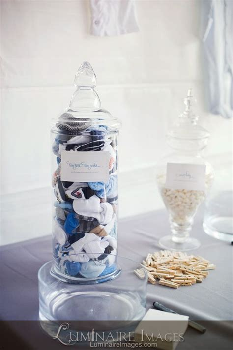chelsea themes jar baby shower game quot guess how many baby socks in the jar