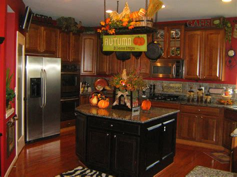 kitchen theme ideas for decorating fall inspired kitchen