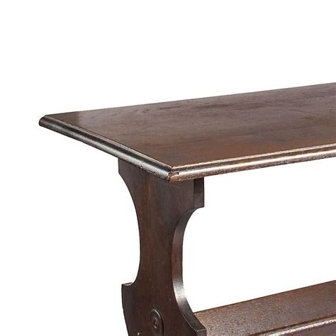 Trestle With Shelf by Early 1900s Walnut Trestle Table With Lower Shelf From