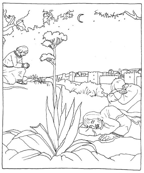 olive garden coloring pages jesus praying in the garden of gethsemane catholic