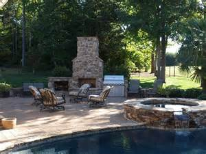 backyard designs with pool and outdoor kitchen outdoor kitchen and fireplace designs
