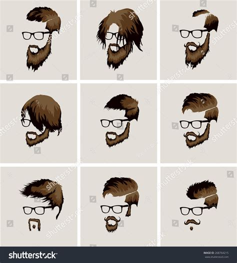 S Hairstyle Glasses Beard by Hairstyles Beard Mustache Wearing Glasses Stock Vector