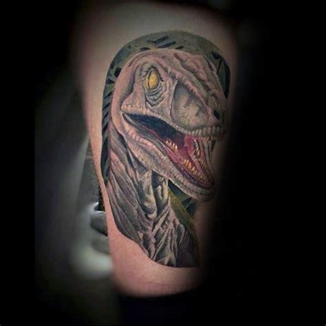 new school dinosaur tattoo new school illustrative style dinosaur tattoo on arm