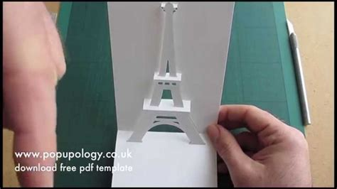 eiffel tower pop up card template pdf 81 best images about kirigami on
