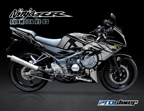 Decal 150 Rr New Sunmoon 04 Hitam Sticker Striping pin sticker on