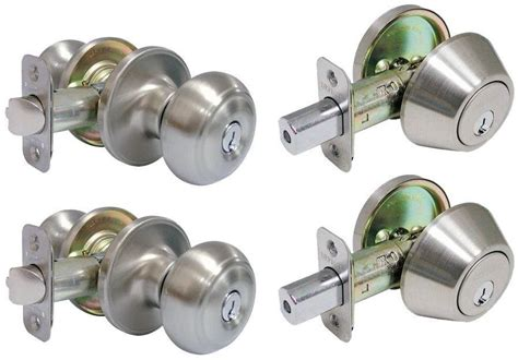 Exterior Door Lock Sets 2 Combo Exterior Entry Door Security Lock Knob Deadbolt Knobs Sets Deadbolts New Ebay