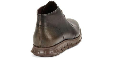 cole haan mens chukka boots cole haan zerogrand chukka boots in metallic for lyst