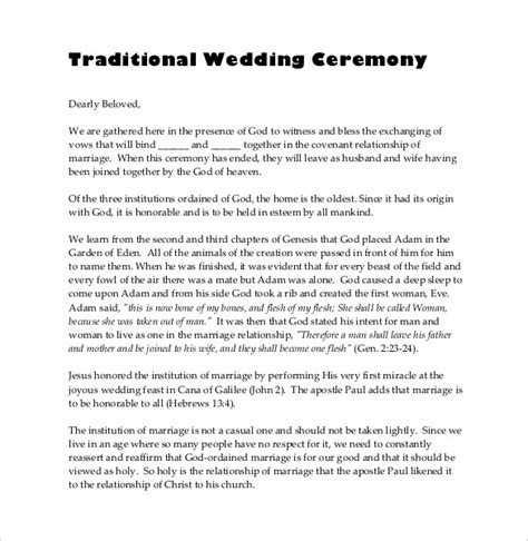 non religious wedding ceremony template wedding officiant script mini bridal