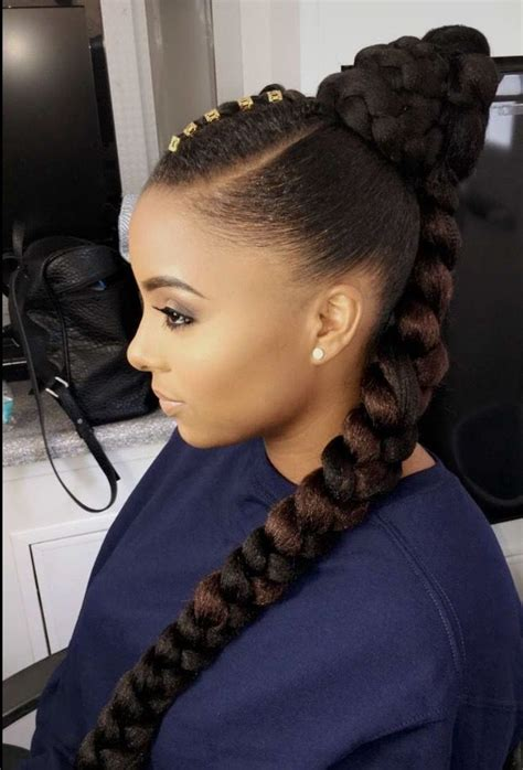 afro hair style cheveux crepus tresse chignon curly hair