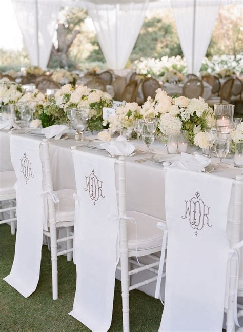 white table covers weddings reception d 233 cor photos monogram chair covers inside