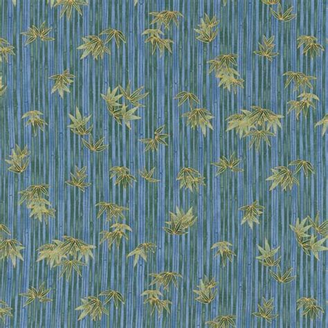 Blue Bamboo Quilt by Blue Bamboo Akiko Fabric By The Yard Keepsake Quilting