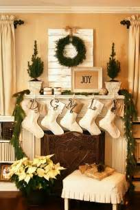 rustic christmas fireplace living room decor ideas