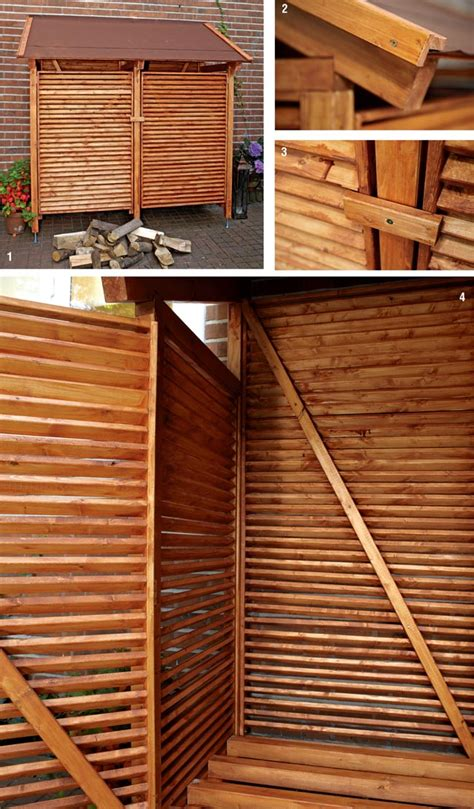 tettoia per esterno costruire una legnaia fai da te da esterno con tettoia