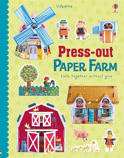 Press Out Model Book press out paper farm at usborne books at home