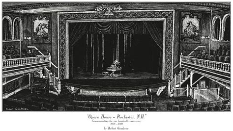 rochester opera house opera house rochester nh painting by robert goudreau