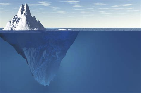 The Iceberg the quot social iceberg quot the data on 1 1 marketing may