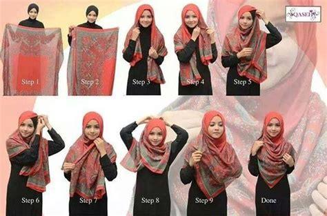 tutorial hijab bawal simple square shawl hijab tutorial hijab tutorial pinterest