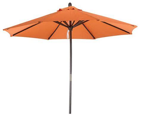 Out Door Umbrellas Premium 9 Foot Tuscan Orange Wood Patio Umbrella